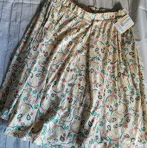 White Paisley XL Madison Skirt with pockets